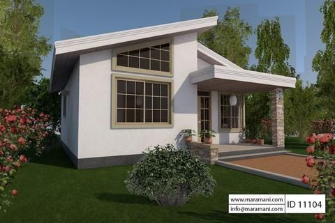 1 Bedroom House Plan   ID 11104   Pinterest   Open layout  Bedrooms     Here is an affordable one bedroom house design that is simple with an open  layout yet has ample space for all your belongings as a single individual