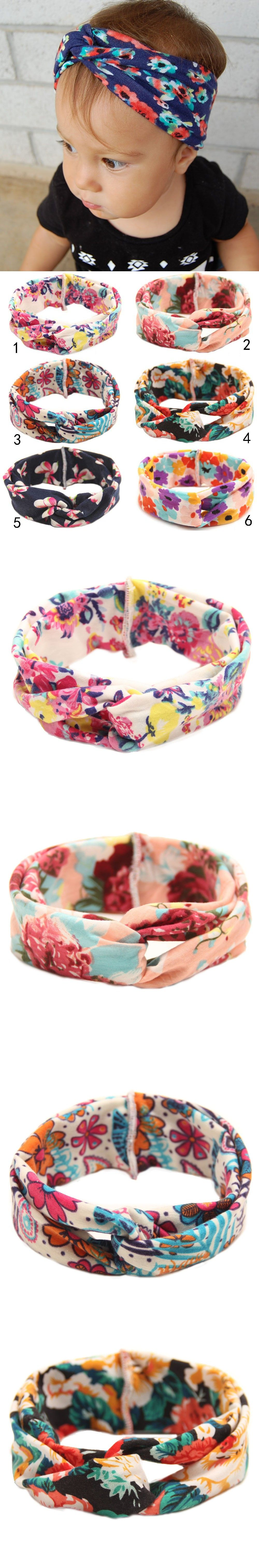 Be best hair accessories for baby - Twisted Newborn Baby Headband Printed Children Baby Girls Hair Accessories Artificial Cross Turban Hairband Headwraps