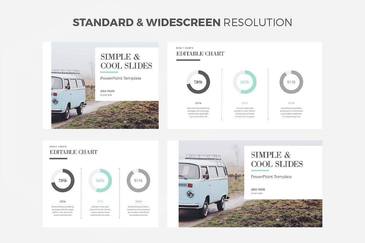 simple cool powerpoint template by wipavee on creativemarket