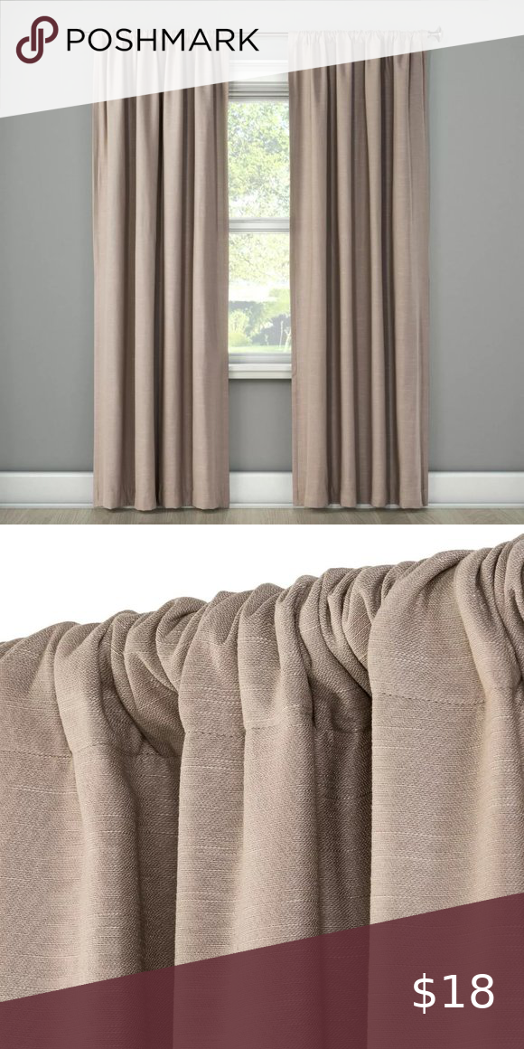 84 Inch Tan Henna Blackout Curtain Panel In 2020 Panel Curtains Drapes Curtains Energy Efficient Design