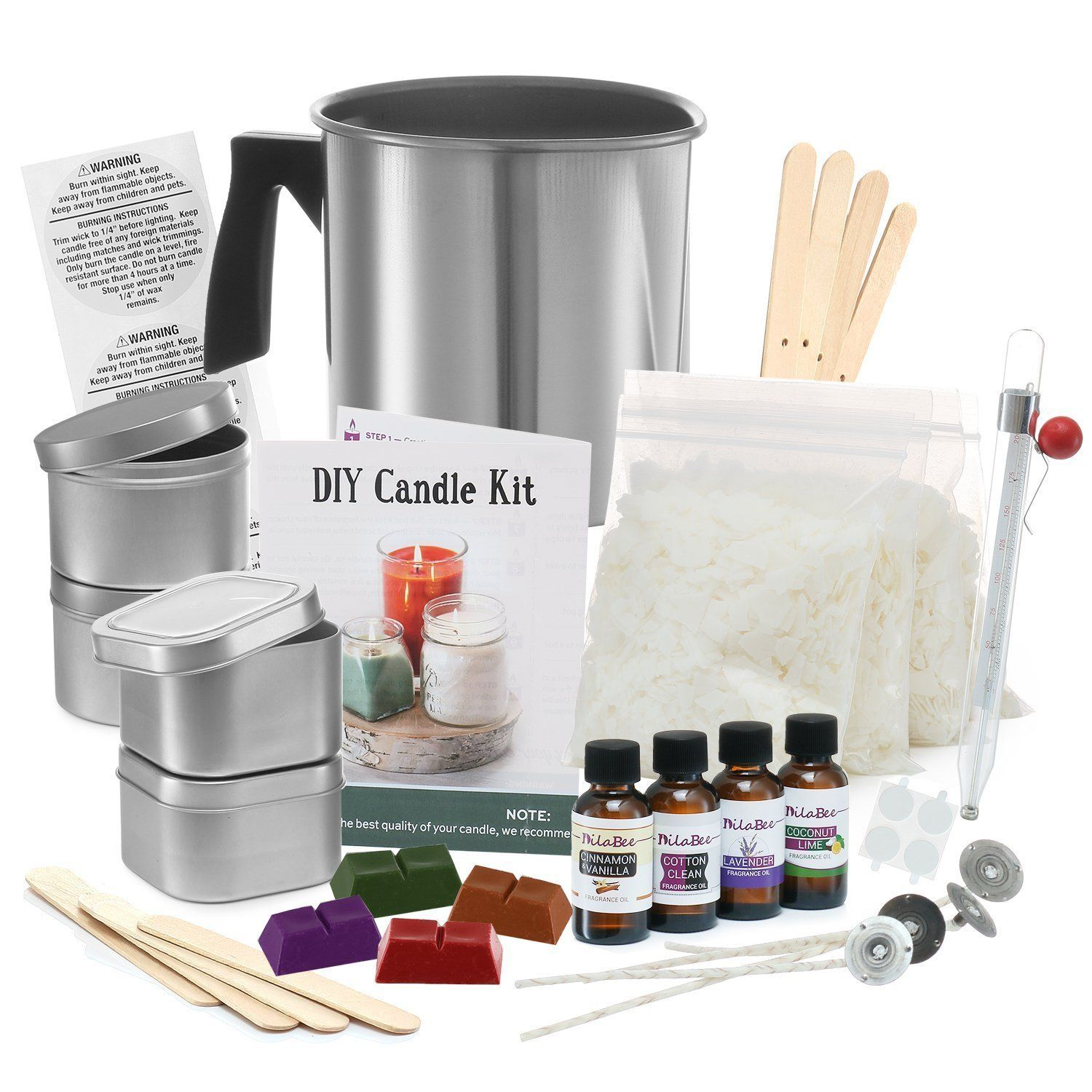 Complete DIY Candle Making Kit Supplies – Create Large