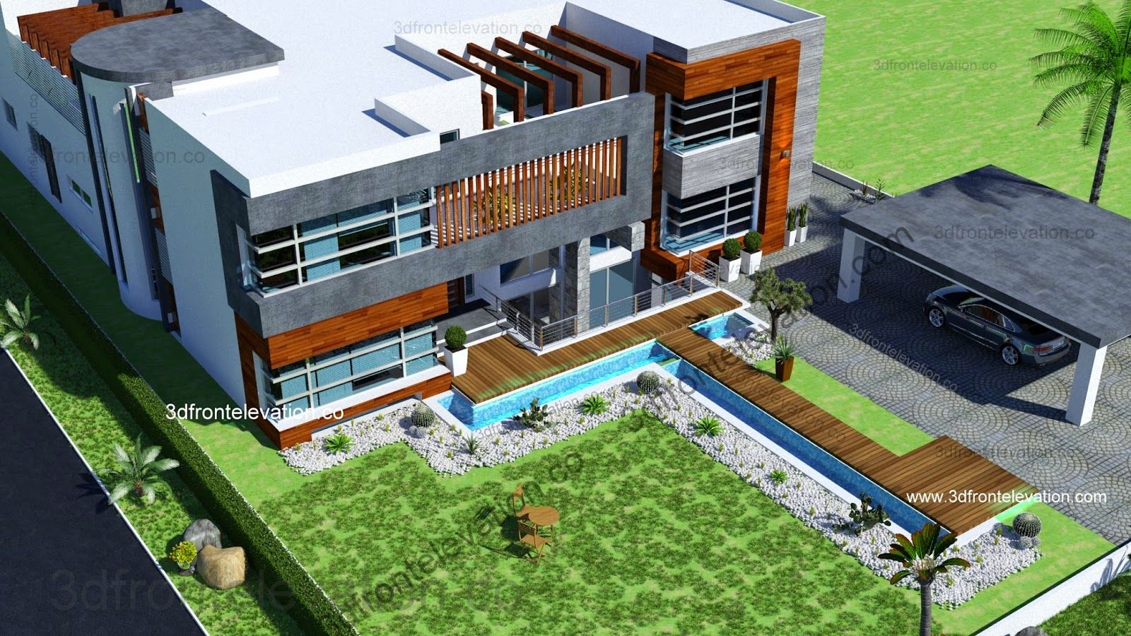Beautiful 2 Kanal House Plan + 3D Front Elevation | House Elevation ...