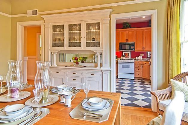 Adjacent To The Kitchen Formal Dining Room Has A Built In Buffet