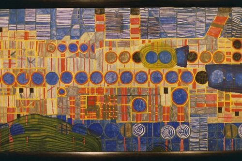 Hundertwasser    this painting can be used as  bg for figurative painting.