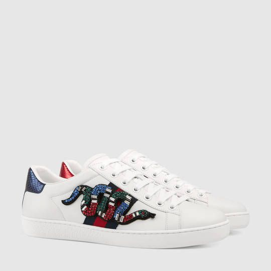 3ccc26f1bc Ace embroidered sneaker | Shoegal | Gucci shoes sneakers, Sneakers ...