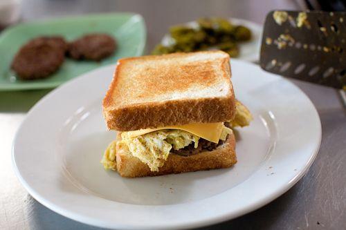 Cowboy Breakfast Sandwiches Recipe Breakfast Sandwhich Breakfast Toast Breakfast Sandwich