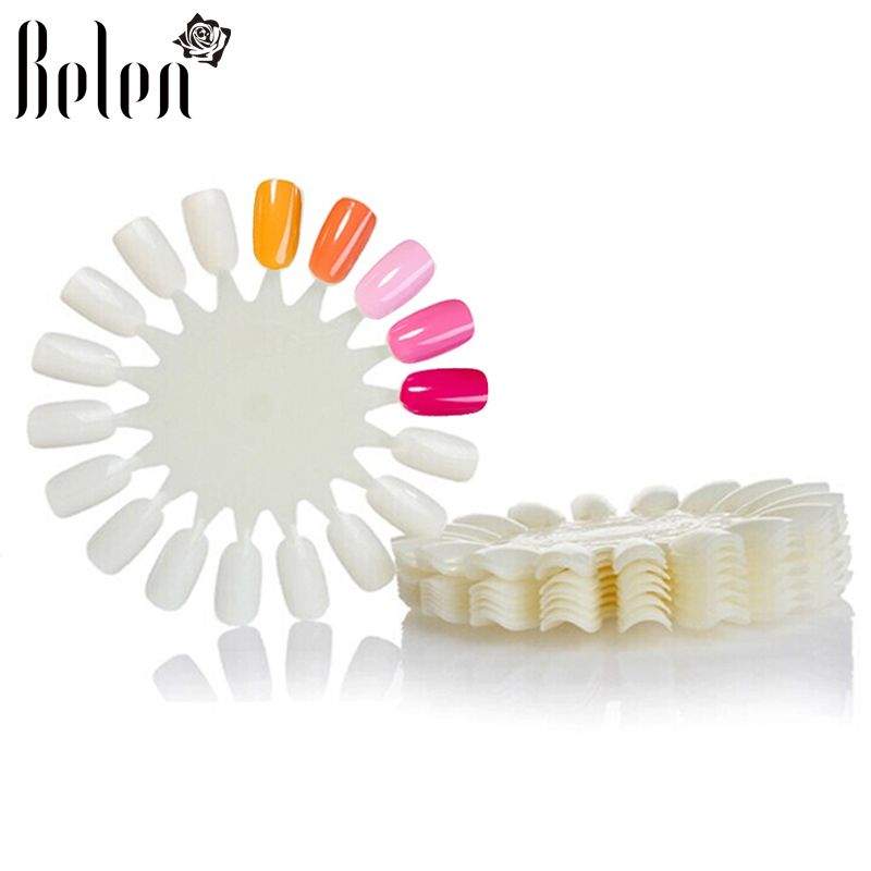 Belen 10PCS Natural White Wheel Polish Color Display Chart Round 180 ...