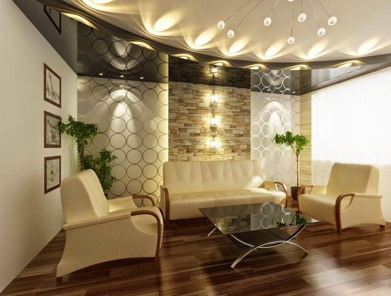 25 elegant ceiling designs for living room pop false for New drawing room designs