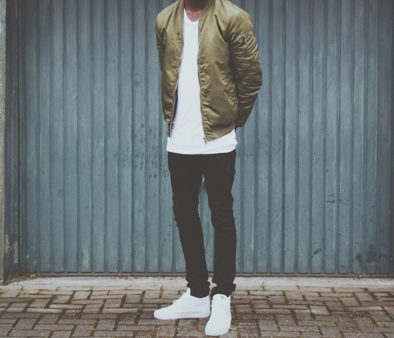 Inspo Mens Fashion Casual Outfits Olive Bomber Jacket Bomber Outfit [ 1098 x 1280 Pixel ]