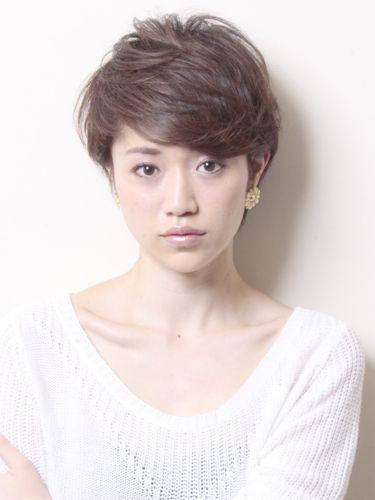 40代 髪型 ショート 丸顔さん オーダー 丸顔 ヘアスタイル 髪型 40