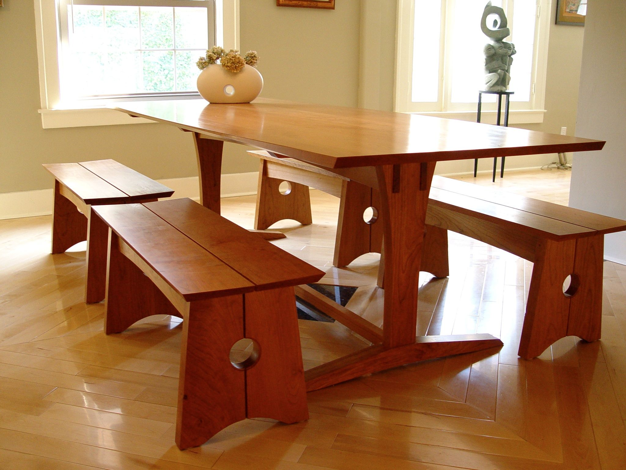 Ashi Trestle Table And Benches Furniture MakersTrestle TablesDining
