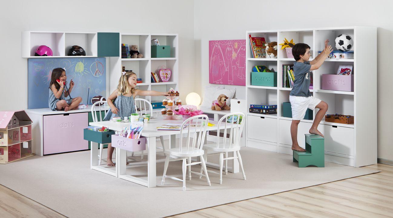 Mesa de estudio para dos ni os cuarto juegos pinterest - Mesa estudio infantil ...