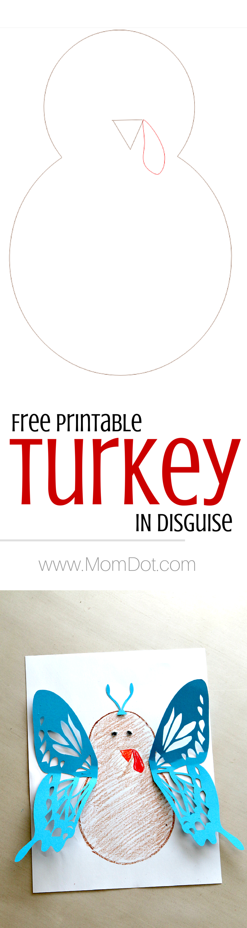 Turkey In Disguise Free Printable Template Free