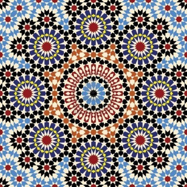 Moroccan Tile Patterns Bulldog Puppys