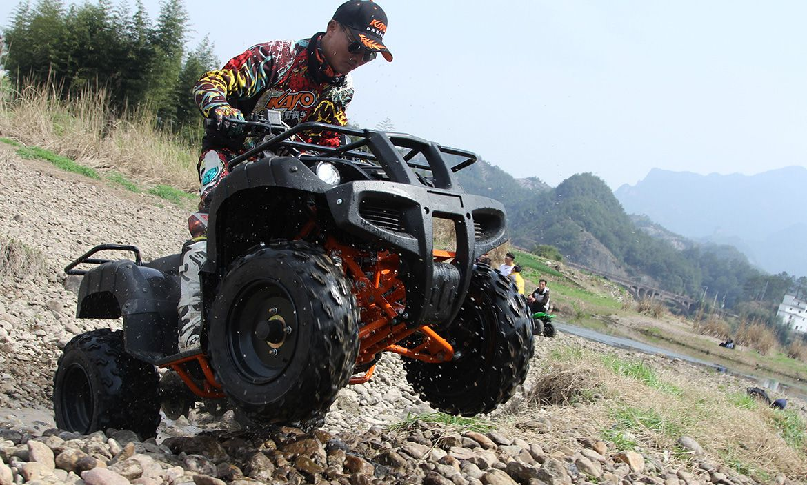 Kayo Au150 Atv Quadbike Has A 4 Stroke Engine With Air Oil Cooling