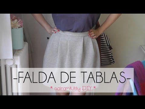 07fdd95bd FALDA DE TABLAS CORTE Y CONFECCIÓN | Manualidades | Negro | Faldas ...