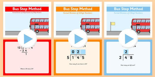 Bus Stop Division And Converting Remainders To Decimal Values Bus Stop Division Math For Kids Decimal Value
