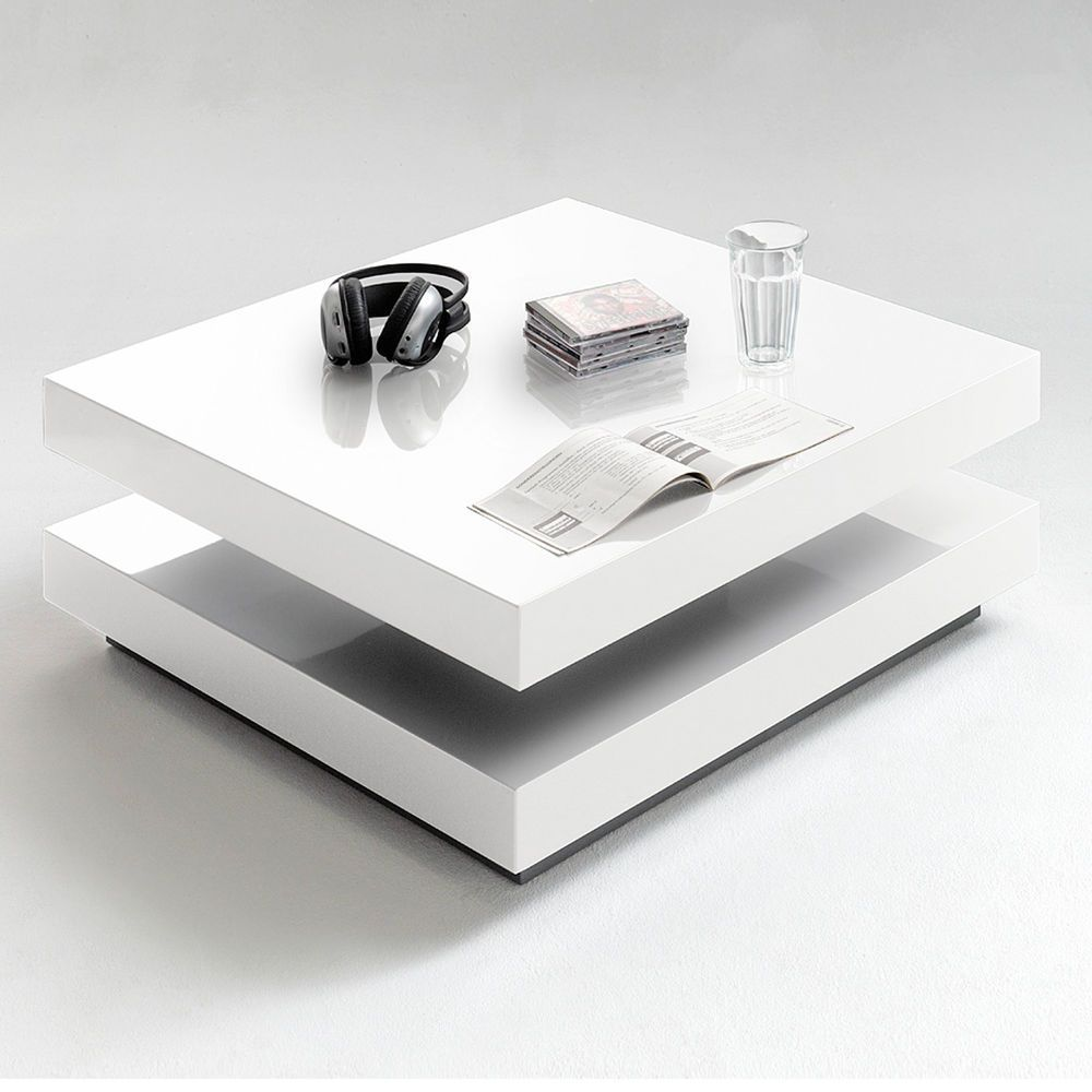 Oberfläche Hochglanz Weiß Lackiert Dieser Moderne Couchtisch Besticht Durch Klare Linienführung Und Coffee Table With Storage Coffee Table Square Coffee Table
