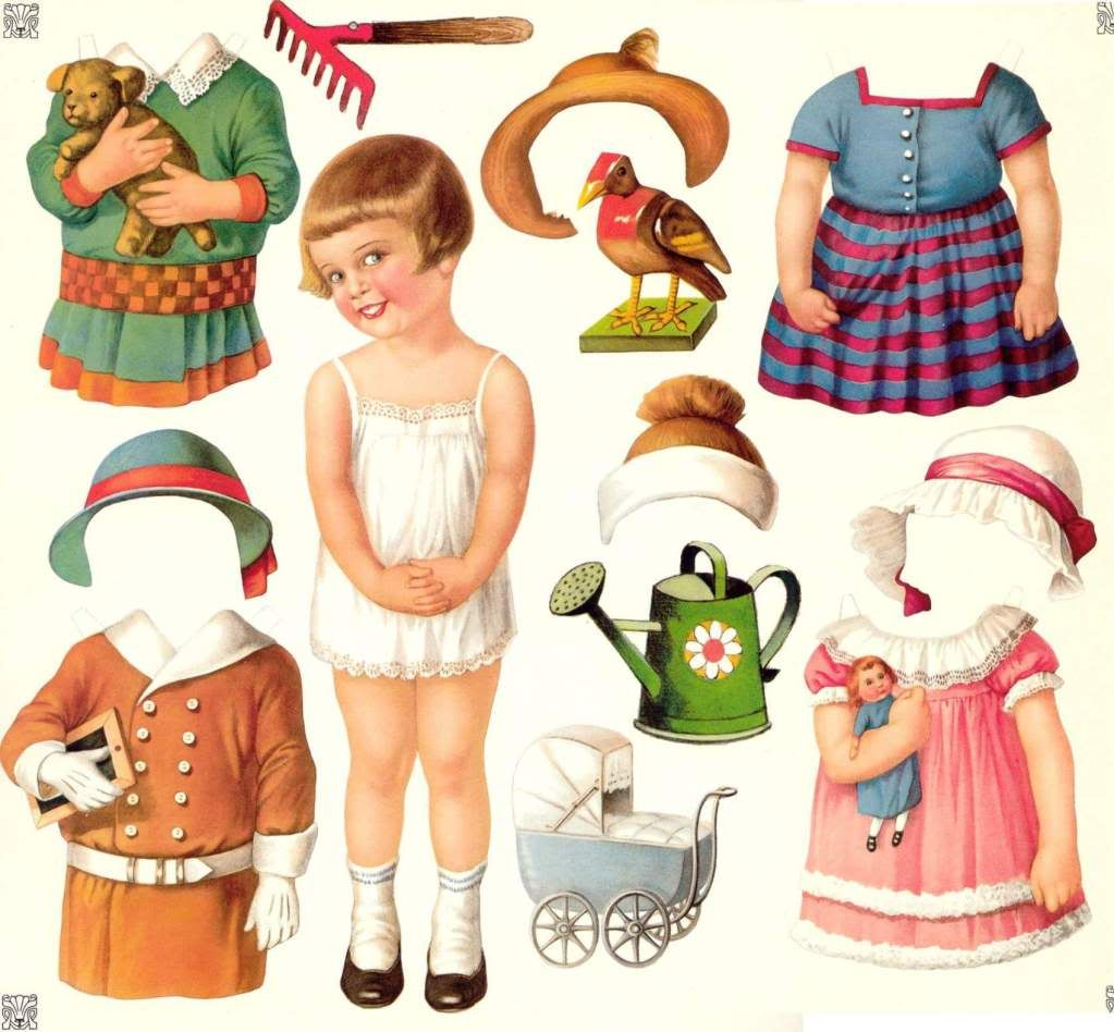 paper dolls... I really loved playing with these as a child!