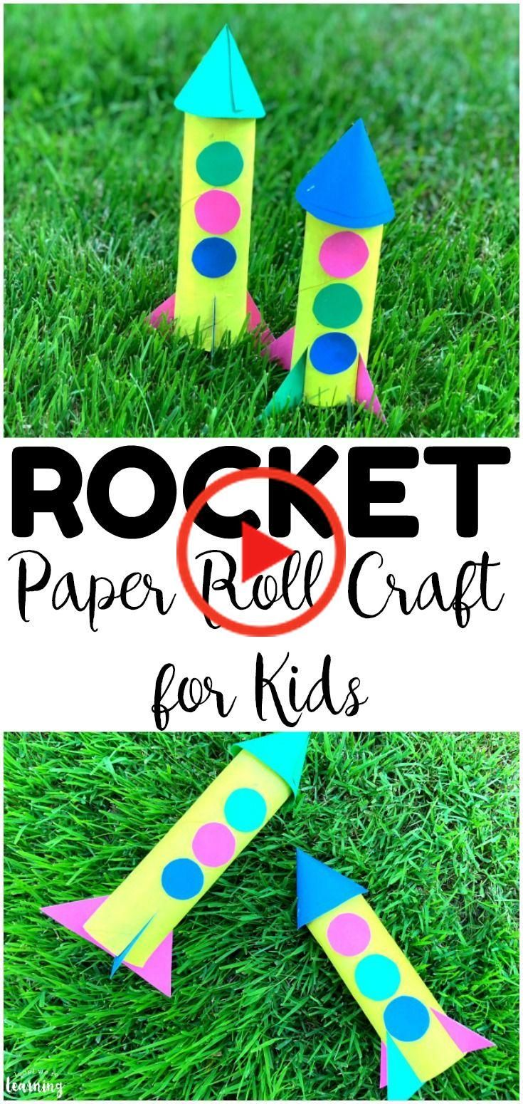 Looking for an easy summer craft for kids? Try this easy paper roll rocket craft kids can make with you over the summer this year! #lookwelearn #kidscrafts #craftsforkids #papercrafts #easycrafts #kidsbeds