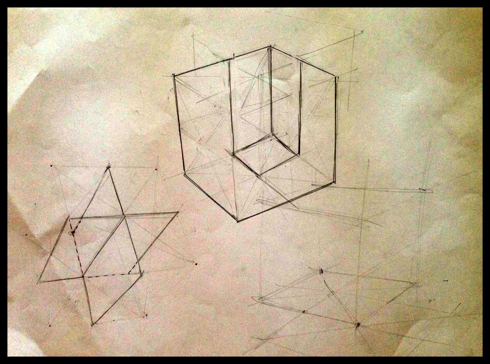 Subdivisión de un cubo