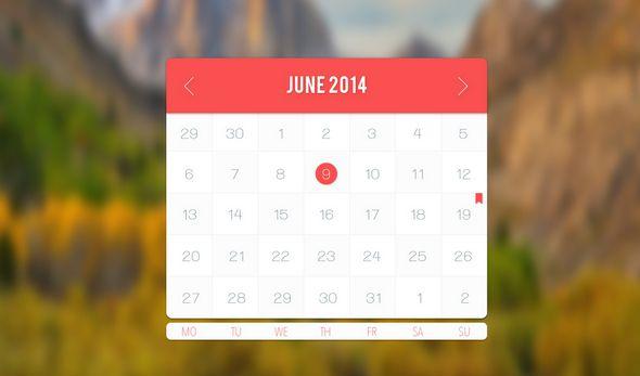 Free Psd Calendar Templates Web Design Pinterest Template