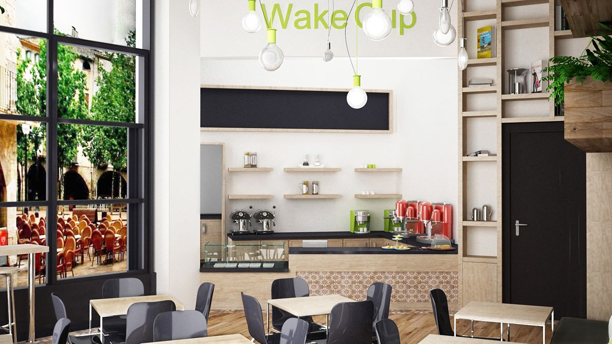 WakeCup Cafe` on Behance