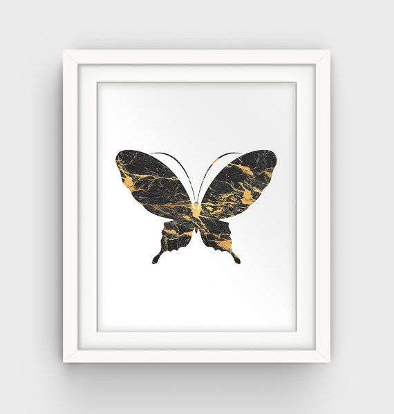 Butterfly Print Wall Art Printable Drawing Illustration
