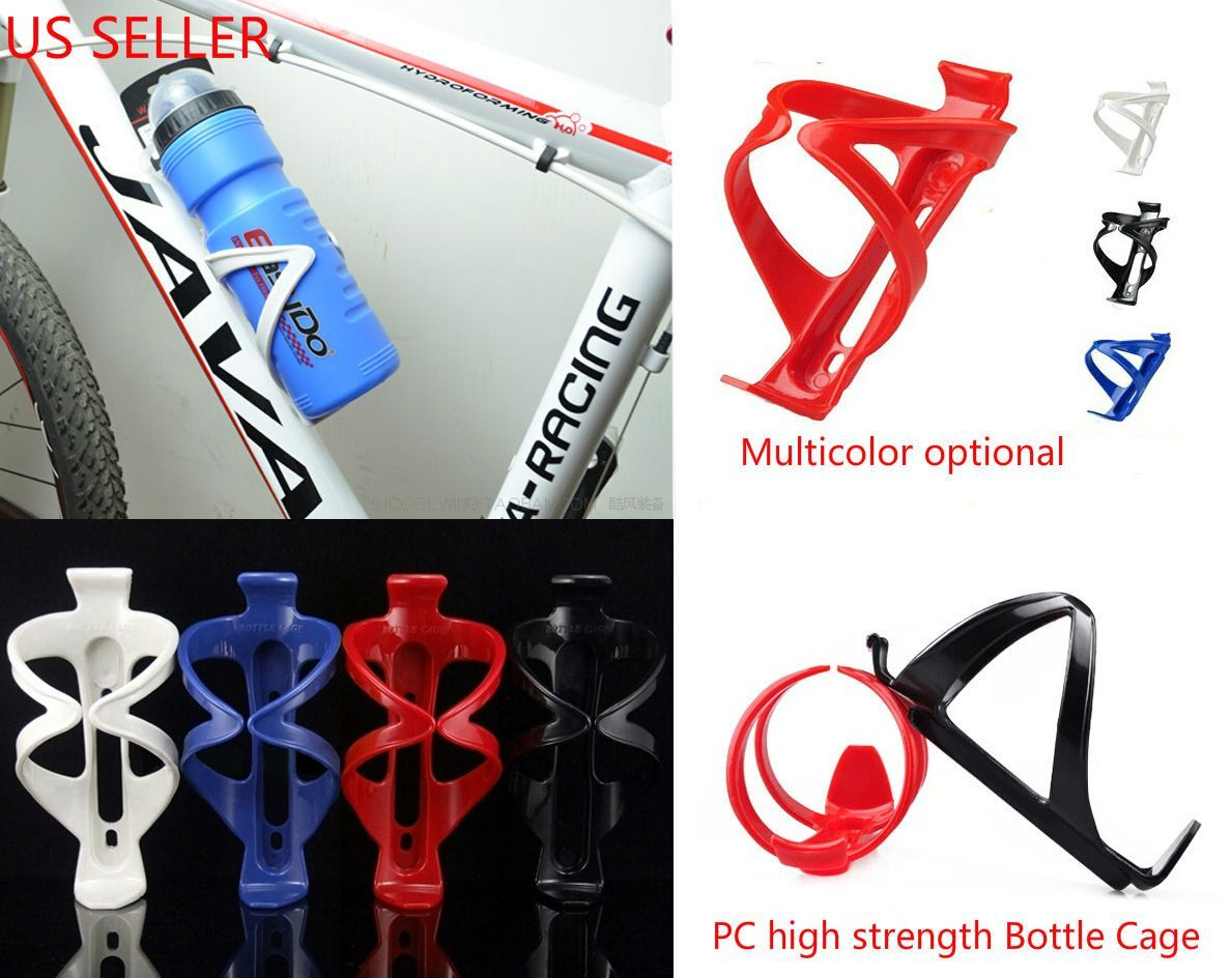 Cycling Bike Bicycle Water Bottle Drink Cage Holder Rack Sports