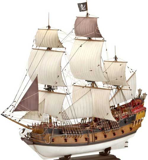 "1/72 ""Black Pearl"" Pirate Sailing Ship Model"