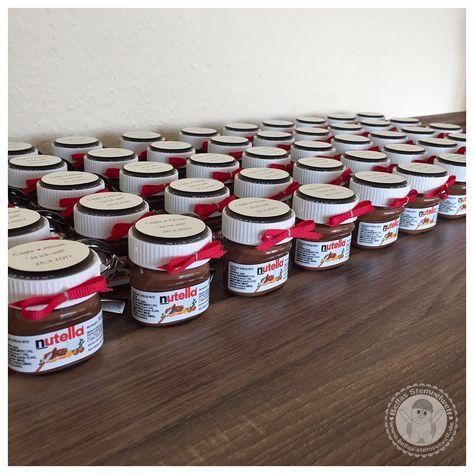 Stampin Up Susse Gastgeschenke Zur Hochzeit Bellas Stempelwelt Mini Nutella Als Gastgeschenke Nutella Produkte Hochzeit Gunstig Hochzeitsandenken