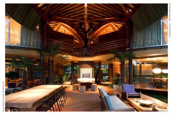 Elegant Dream Beach House Interior Design: BRAZILIAN LEAF HOUSE Photo Gallery