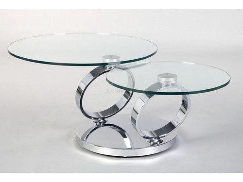 Ring Motion Coffee Table Size 32 Diameter When Closed X 53 Fully Open Height 16 5