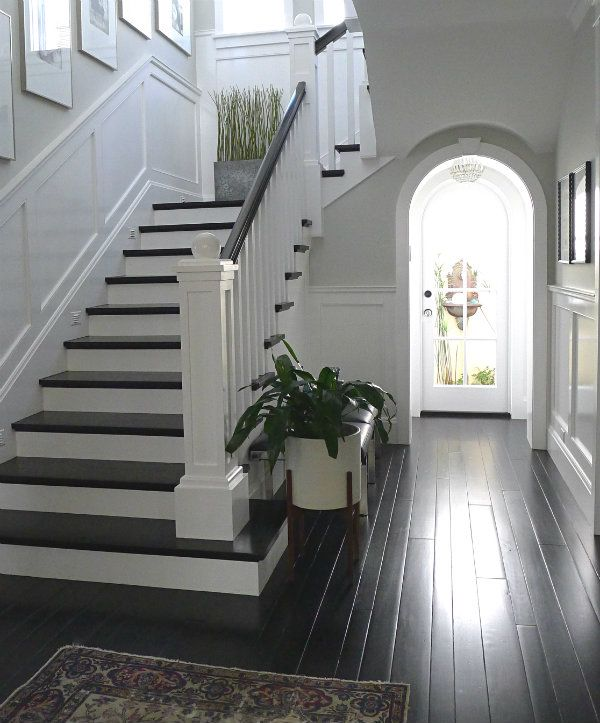 Staircase Decorating Ideas With Modern Design: Rachel Says Painting It White Looks Cheap. I Think It's
