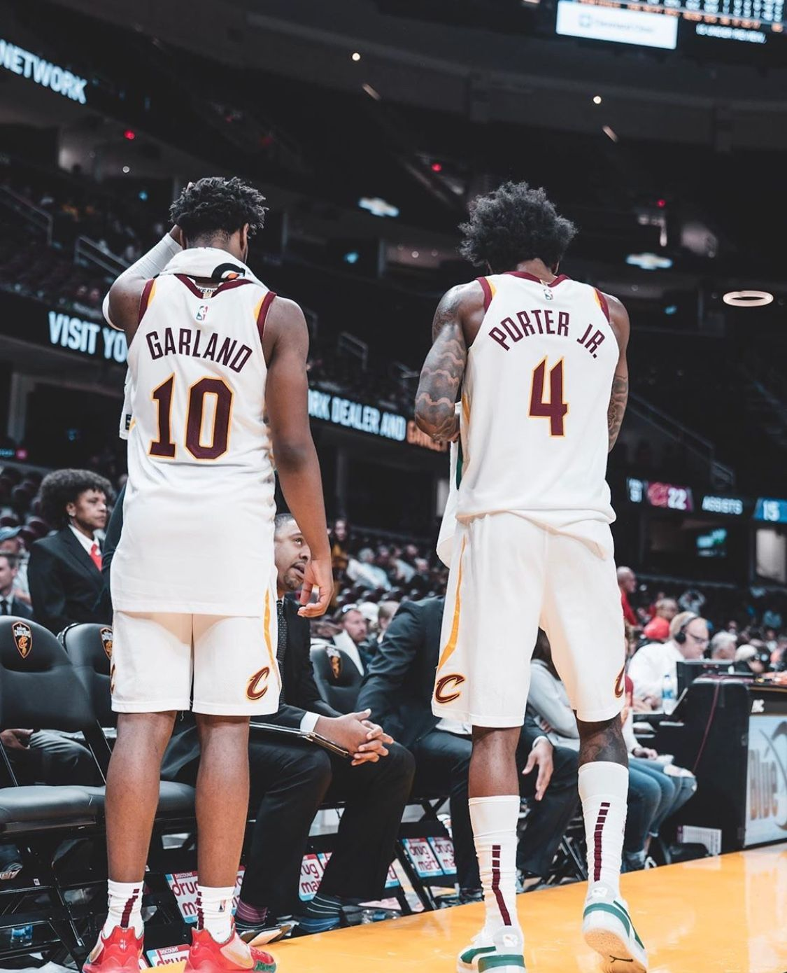 Might be a scary future duo. Darius Garland and Kevin ...