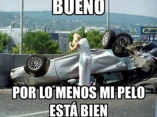 Los Accidentes De Autos Y Las Mujeres Memes De Risa Chistosos