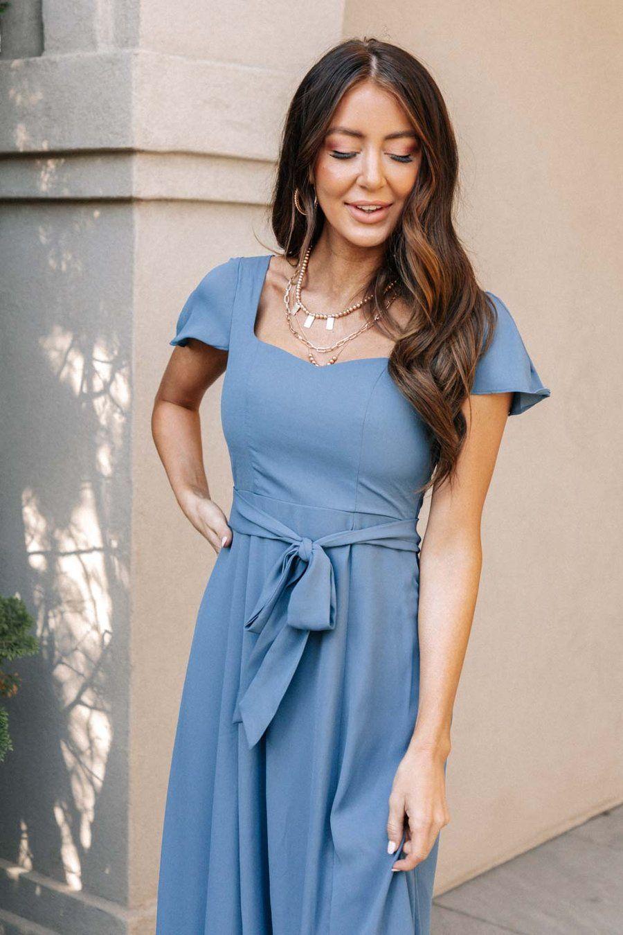 Florence Sweetheart Maxi Dress In Slate Blue Maxi Dress Dresses Maxi [ 1350 x 900 Pixel ]