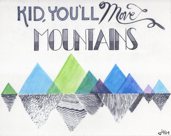 Dr Suess Quote Kid Youll Move Mountains By Polkadotgorilla
