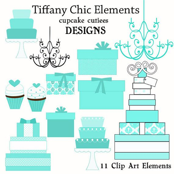 Tiffany chic Elements Digital Clipart Elements by cupcakecutiees, $5.00