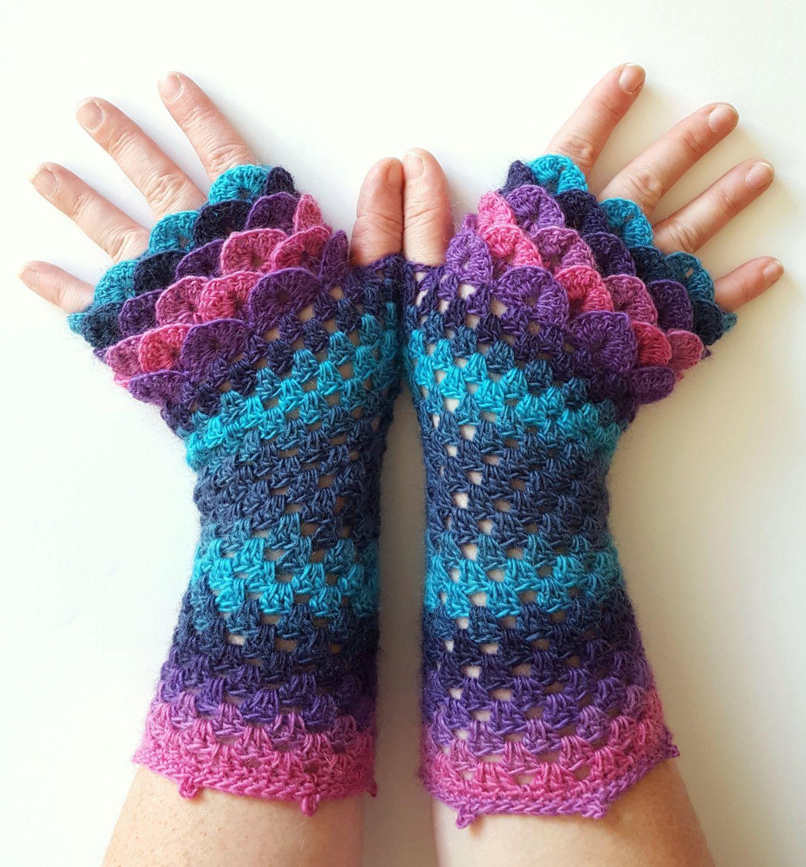 Driving texting gloves - Ooak Dragon Gloves Fingerless Gloves Womens Gloves Winter Gloves Handmade Wrist Warmers Arm Warmers Texting Gloves Driving Gloves