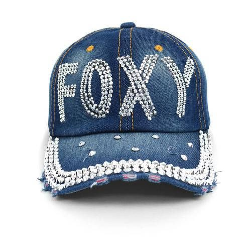 a3c8bf3ea Bling Foxy hat in 100% cotton denim | bling hats | Hats, Womens ...