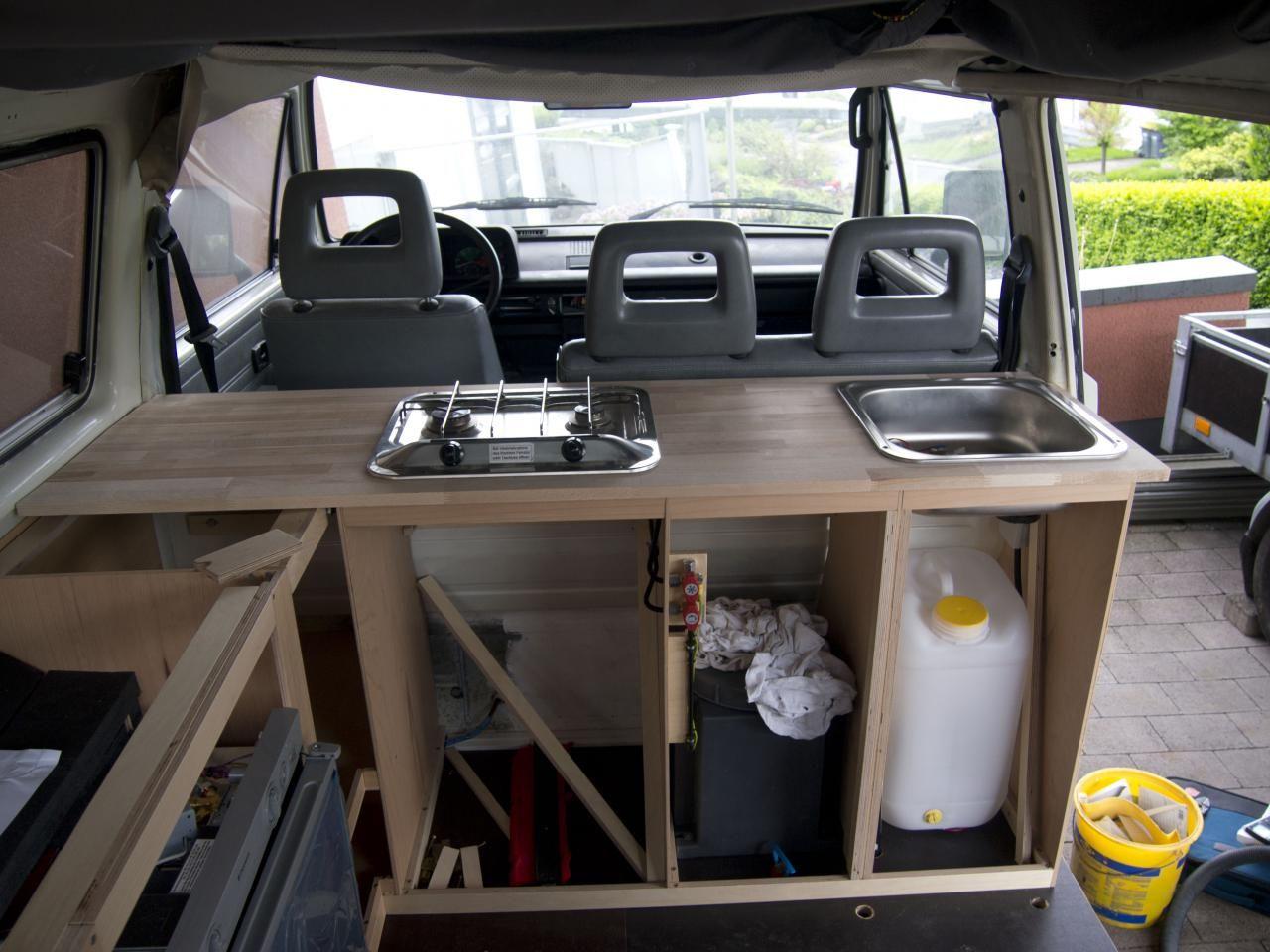 waschbecken kanister buspl ne campingbus ausbau. Black Bedroom Furniture Sets. Home Design Ideas