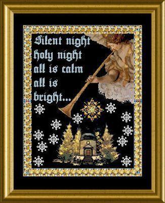 The Music Angel Stille Nacht - Cross Stitch Pattern   Silent night, Silent night holy night ...