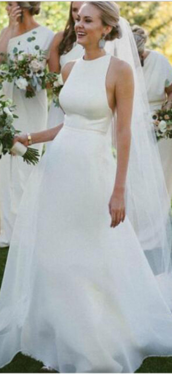 Long Wedding Dress,Wedding Gowns,Wedding Dresses,Ivory Wedding ...