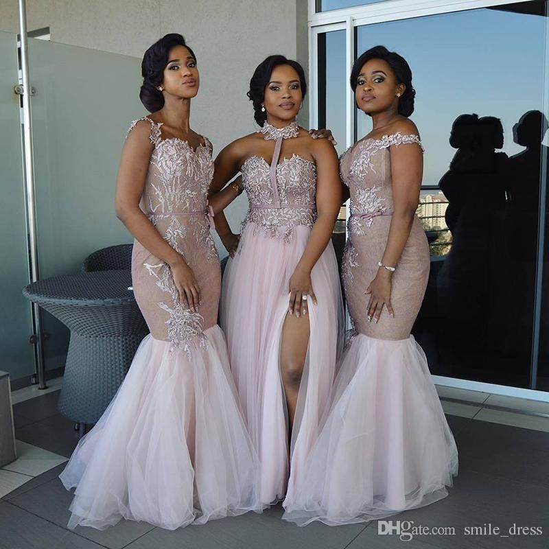 Mixed Style Long Bridesmaid Dresses 2017 Floor Length Appliques Sash Robe  De Soiree Prom Dress Lace Nigerian Dresses Sb094 Long Bridesmaid Dress Long  ... 609a0d5365fc