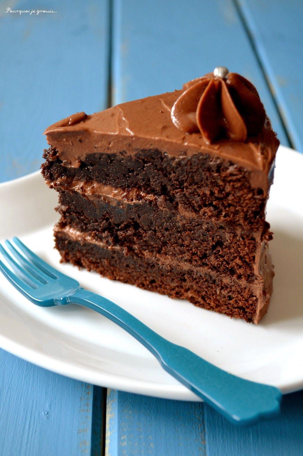 Pourquoi je grossis ... : Layer cake, saveur chocolat & praliné.