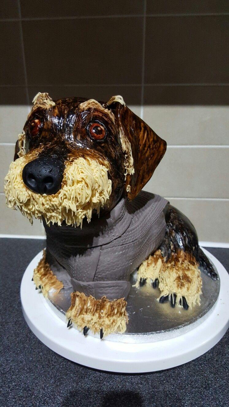 Dachshund Cake Sausage Dog Cake Wirehaired Doxie Birthday Cake