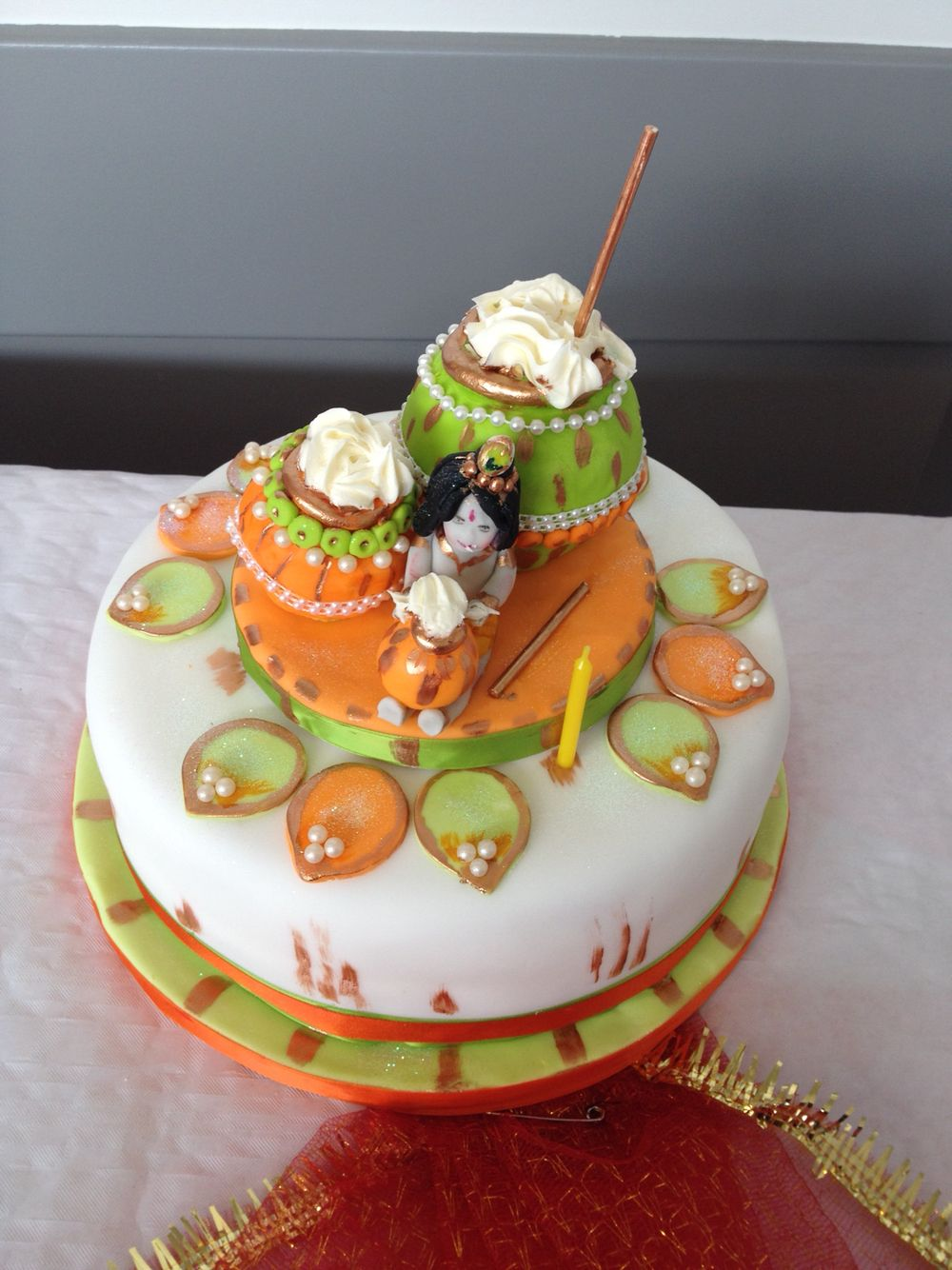 Janmashtami 2014 | Yummy cakes, Indian cake, Indian wedding cakes