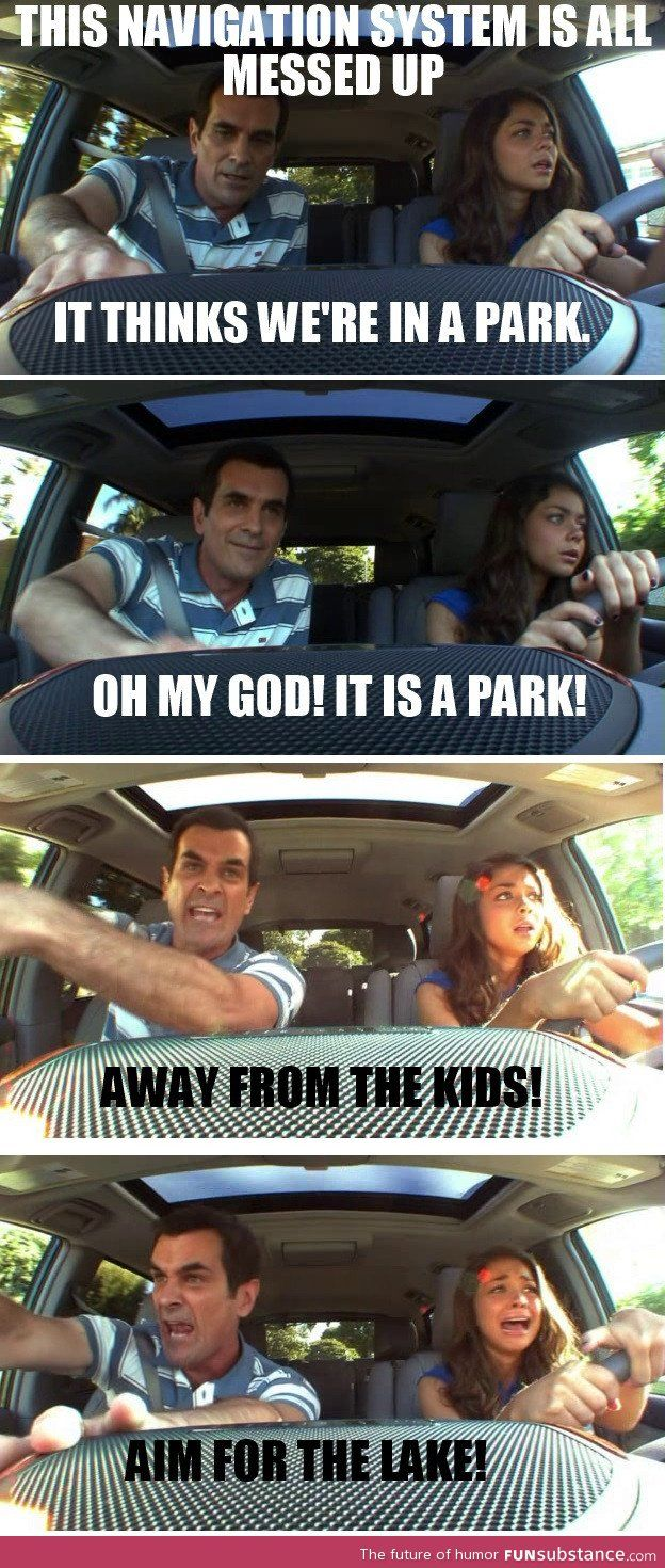 Reminded Me Of My First Time Driving Funsubstance Funny Times Funny P Modern Family