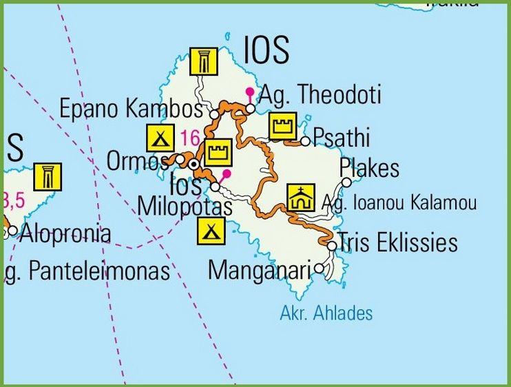 Ios road map Maps Pinterest Greece islands